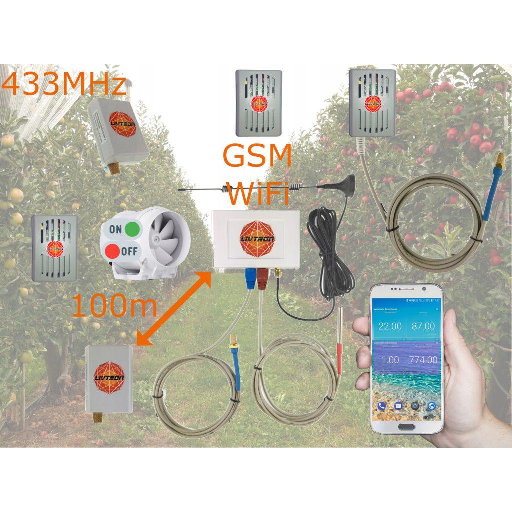 Monitoring temperatury i wilgotności - zdalny rejestrator SIM LiVGSM