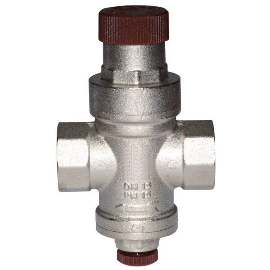 "Reduktor ciśnienia DN15 GW 1/2"" od 1 do 4 bar, z gniazdem na manometr"