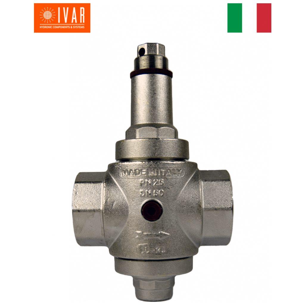"""Reduktor ciśnienia wielki DN50 PN25 GW2"""" z króćcem na manometr"""