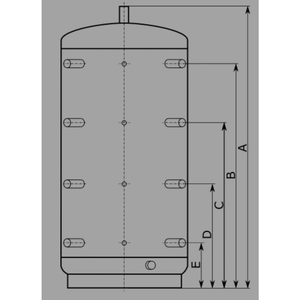 Zbiornik buforowy EPS 1000l D79 H205