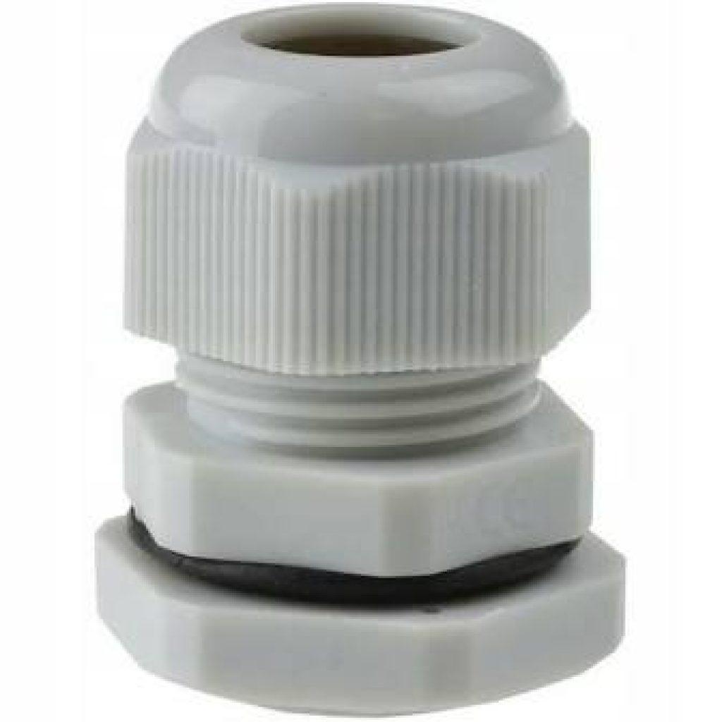 Dławik, dławnica kablowa poliamidowa PG9 IP68 DP 9/H szara